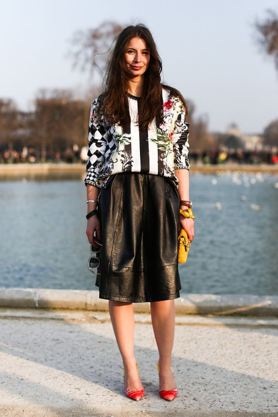 pfw-streetstyle-fall-2013-leather-aline-skirt