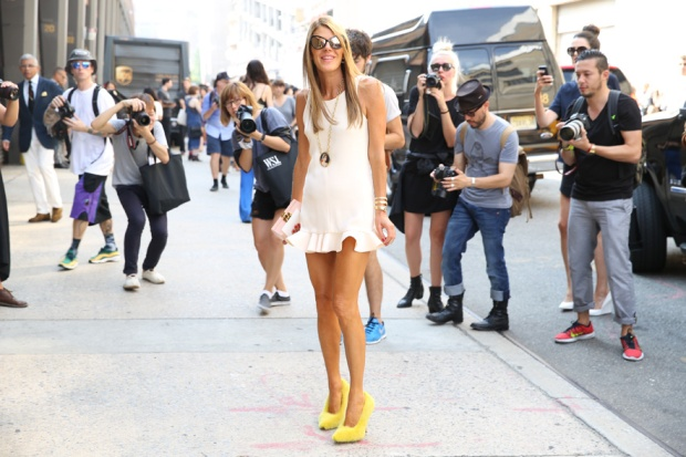 anna dello russo streetstyle new york fashion week