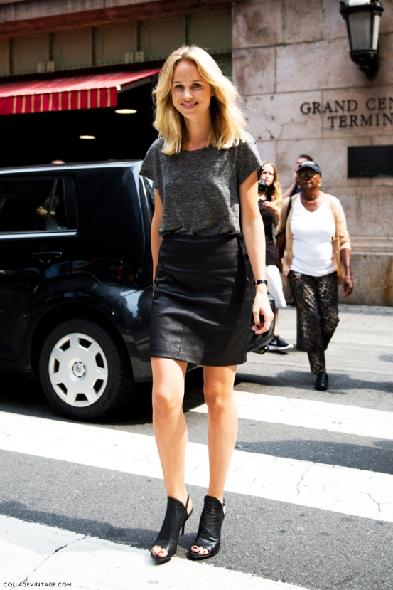 NYFW-New_York_Fashion_Week_Spring_Summer_2014-Street_Style-Say_Cheese-Collage_Vintage-Elin_kling-Leather_Skirt