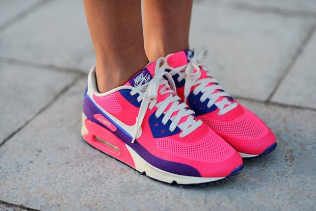 nike air, neon, pink, colour, zina charkoplia, fashionvibe