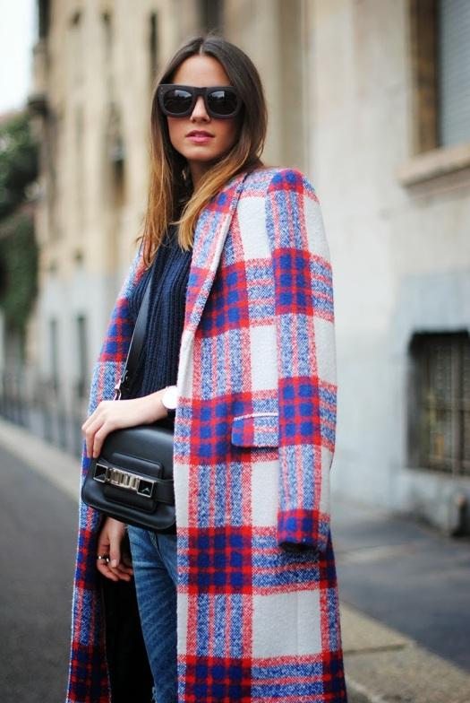 milan, italy, zina charkoplia, fashionvibe, details, plaid coat