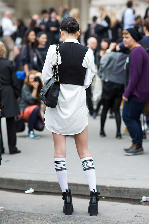 Paris Fashionweek ss2014 day 6, outside Chanel