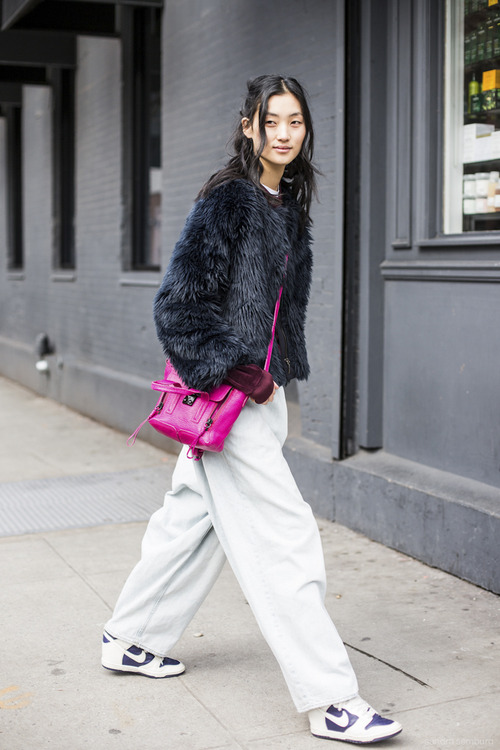New York Fashionweek day 6, model, fuir, mini philip lim bag