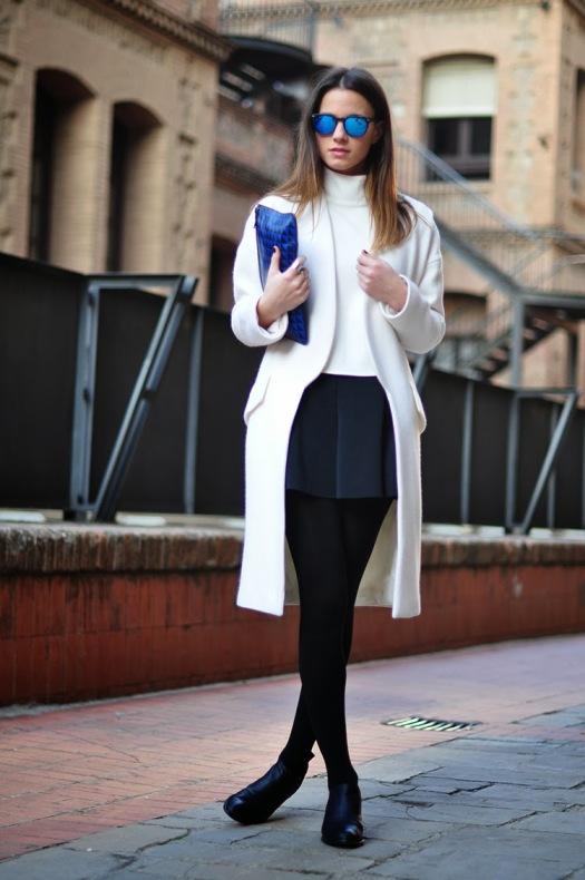 white coat, alexander wang boots, proenza schouler clutch