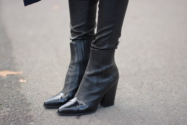 kenzo boots, leather pants