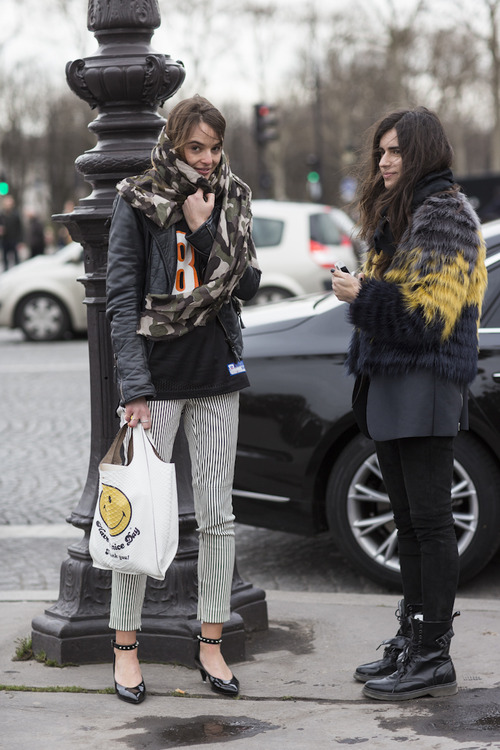 Paris Fashionweek day5, outside Chloé, carlotta oddi